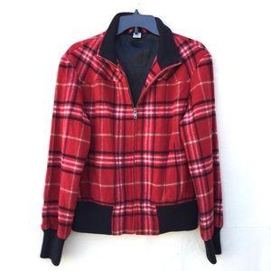 Prana   wool blend full zip collared jacket coat M